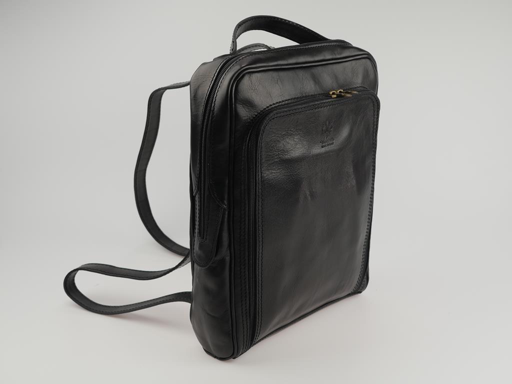 Plecak damski/męski ze skóry PUGLIA - możliwość przekształcenia w torbę do ręki