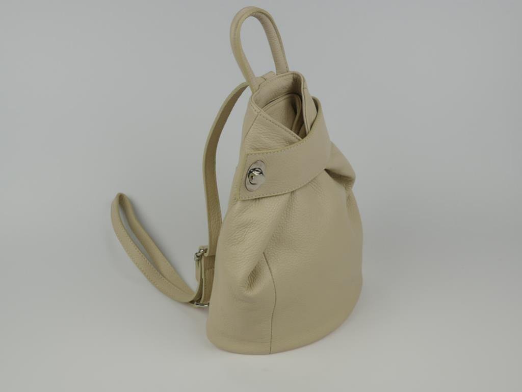 Plecak damski ze skóry Trapani - możliwość przekształcenia w torbę do ręki